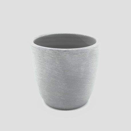 Small Pebble Grey Ceramic Candle Container