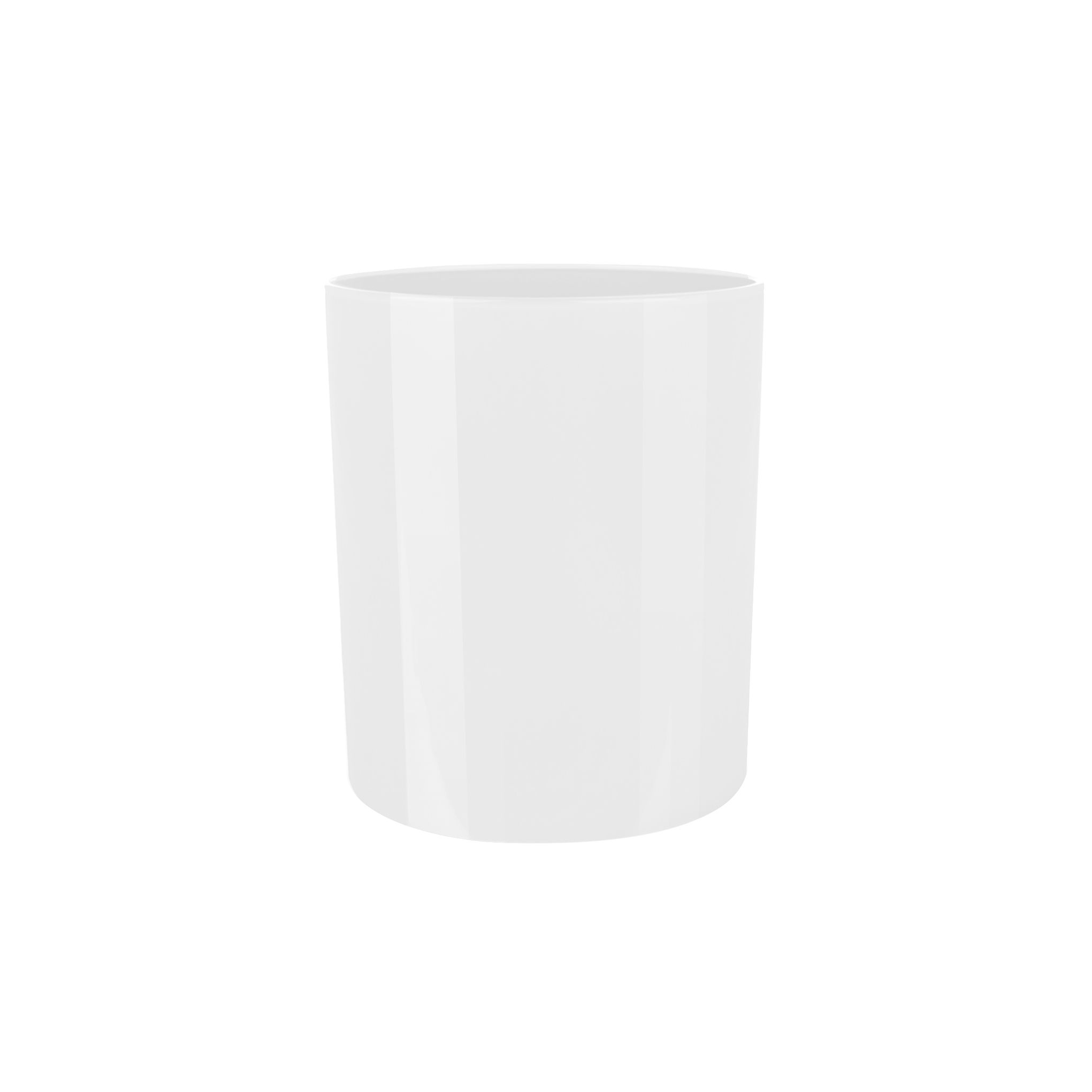 30cl White Gloss Candle Jar
